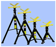 Pipe Jack Stands >> Blackjack V Head Pipe Jack Stands Metro Industrial Supply Llc